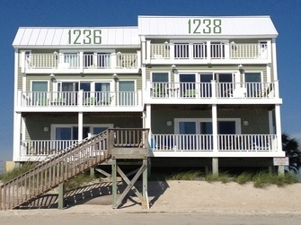 Oceanfront Vacation Rental Homes North Topsail Beach Vacations North Topsai